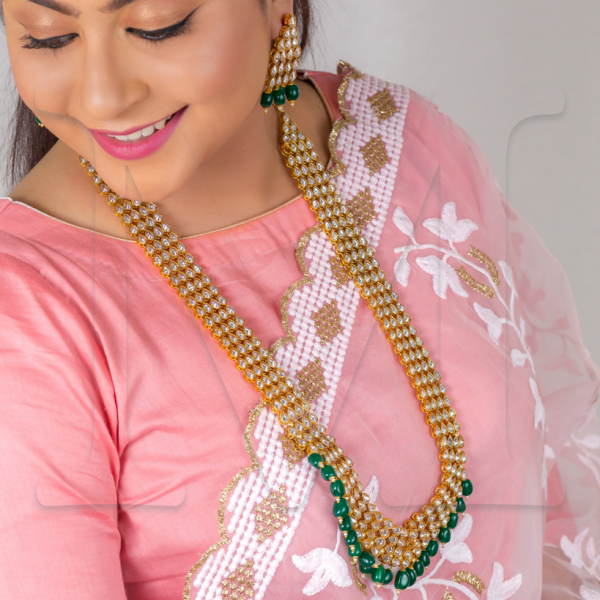 Jeena Polki Necklace Set