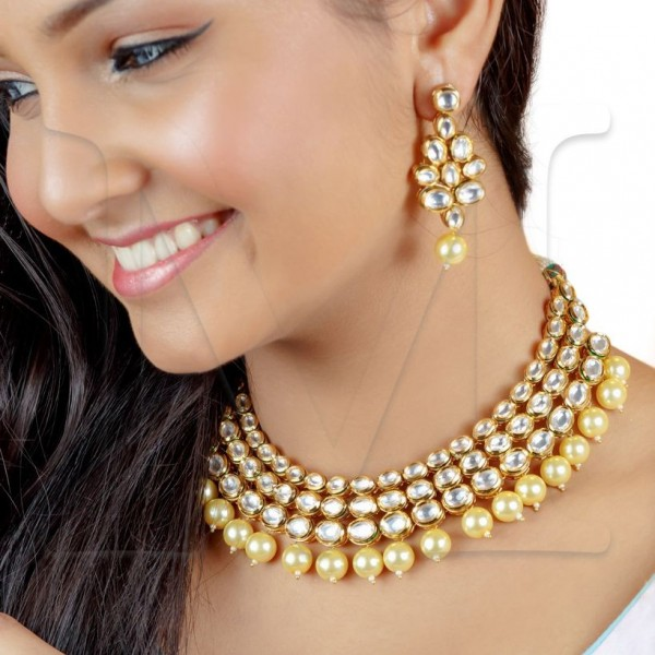 Rani Kundan Necklace Set