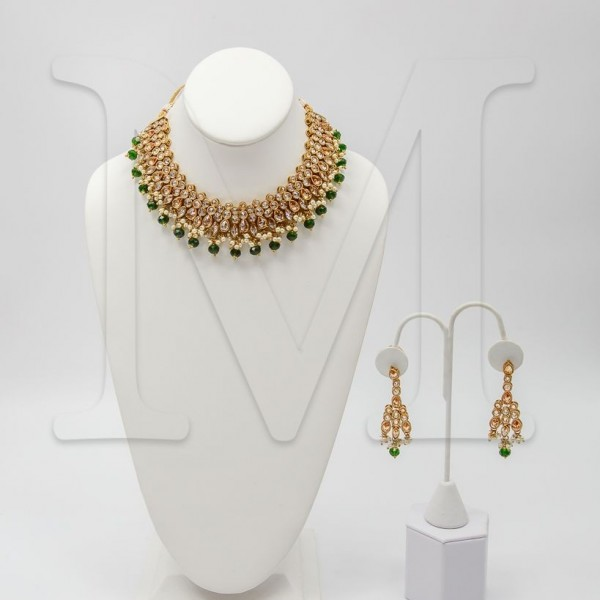 Vaani Polki Necklace Set-Color Options