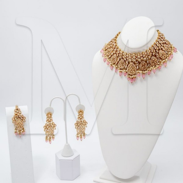 Serena Polki Necklace Set