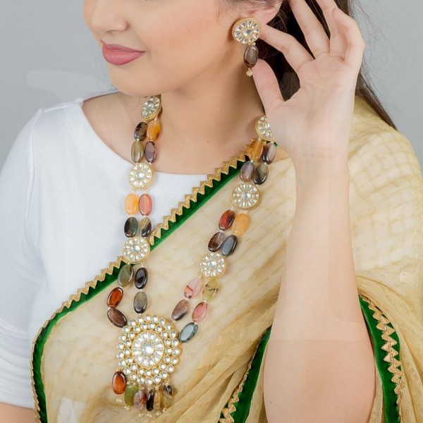 Bahar Kundan Necklace Set